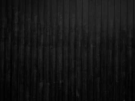 Classic dark black wooden plank pattern background. Old rustic wood wall style texture. Imagens