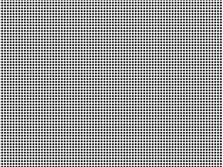 High density small black dots pattern seamless isolated. Monochrome on white background