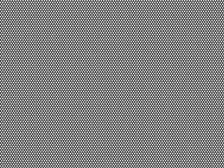 High density black honeycomb pattern seamless isolated. Monochrome on white background Imagens