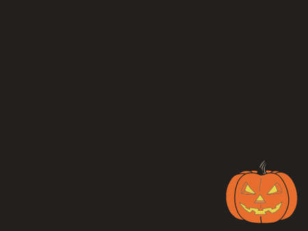 Orange pumpkin for halloween isolated. 2D object on black background