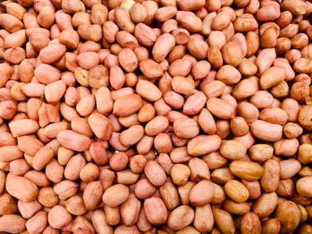 Dried peel peanuts kernel, Food ingredient and raw food for vegetarian. Imagens