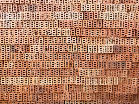 Orange brick wall at side to show hole and texture background.
