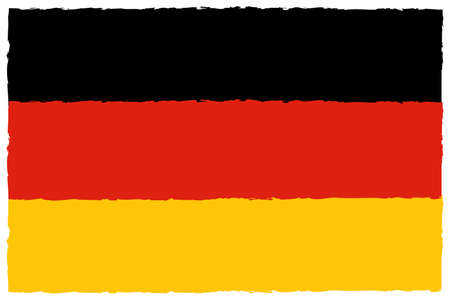 Flag of Germany. Hand Painted with Brush. Vector Illustration.