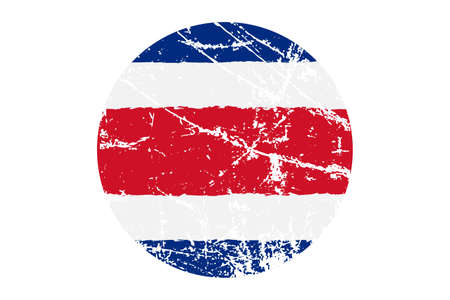 Flag of Costa Rica grunge style. Hand painted with brush. Vector illustration. Illustration