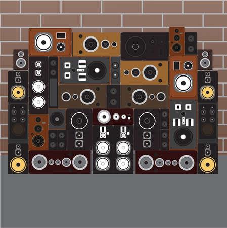 Sound speaker wall