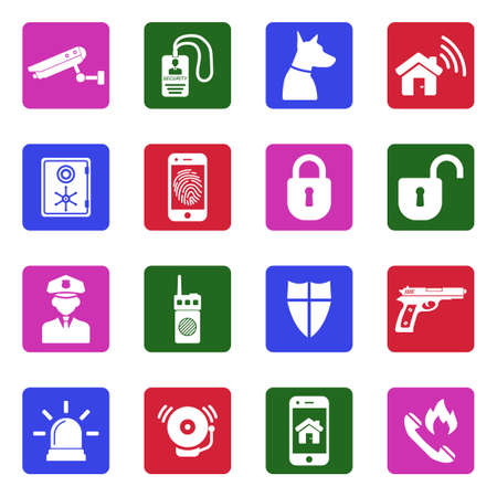 Security Icons Vector Illustration set Stock Vector - 92615339
