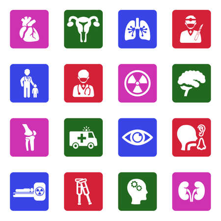 Hospital Departments Icons  イラスト・ベクター素材
