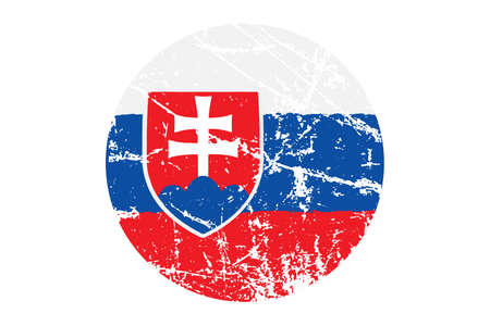 Flag of Slovakia grunge style. Hand painted with brush vector illustration. Illustration