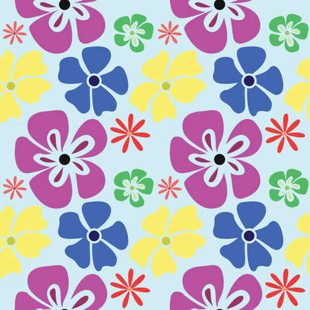 Seamless colorful floral pattern. Pattern in classic style with flowers. Vector illustration.