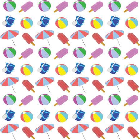 Beach pattern. Vector Illustration. 일러스트
