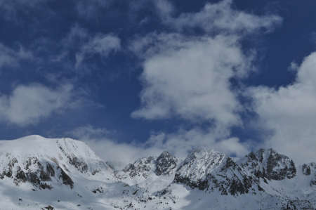 snowy mountains of Andorra la Vella photo