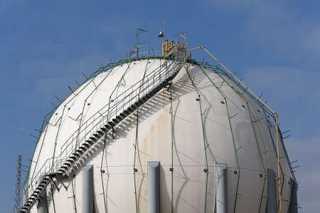 butane: factory where you store butane butane canisters in a huge Stock Photo