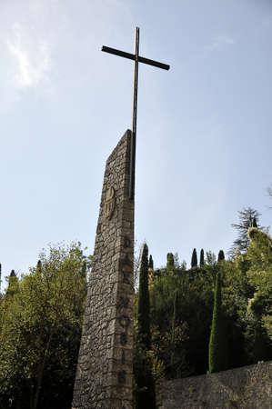 memorial cross: memoriale croce che si possono visitare in Montserrat