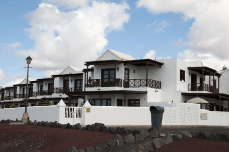 Lanzarote houses white color with  Stock Photo - 16652831