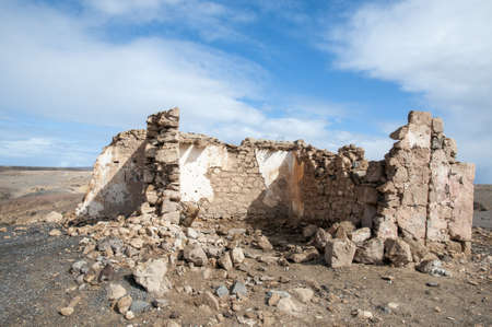 crumbling ruins by the passage of time