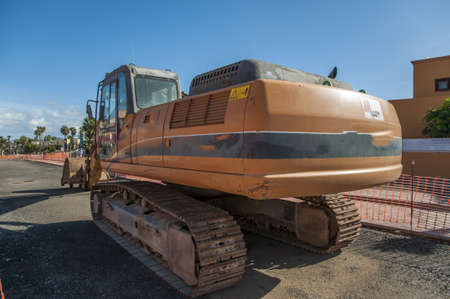tracked: Tracked wheeled machinery working the streets Editorial