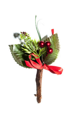 Christmas bouquet which shows the characteristic Christmas flower with red fruits