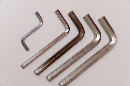 allen wrench oxidized silver Stock Photo - 17226838