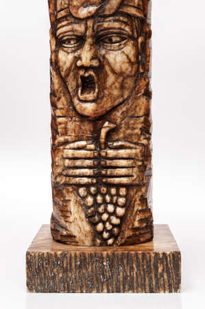 ancient totem stone and brown