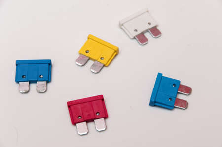 colors fuses to protect electrical circuits photo