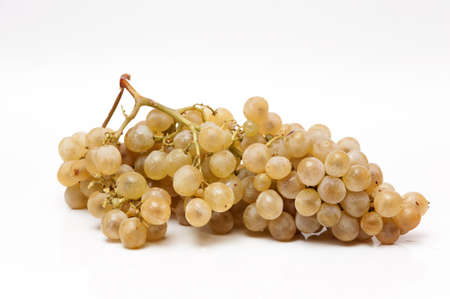very sweet bunch of grapes on a white background
