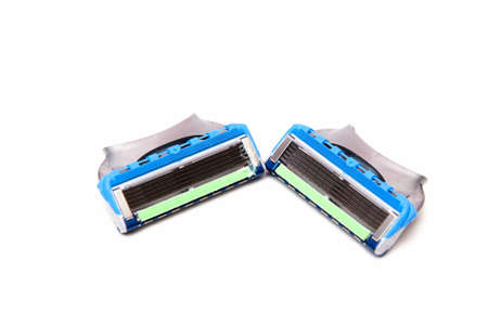 razor blue with many blades for better shaving photo