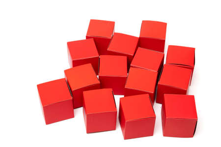 red cubes on white background Imagens - 17310705
