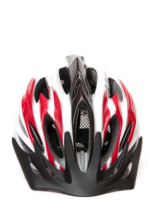 bicycle helmet on white background photo