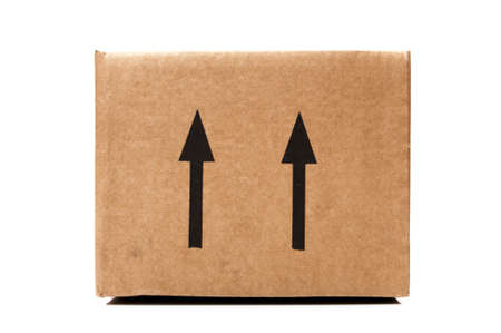 shipping box on a white background