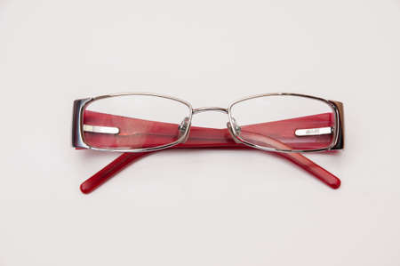 pink glasses on a white background