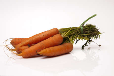 carrots on a white background Stock Photo - 17909267