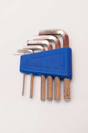 allen wrenches on a white background Stock Photo