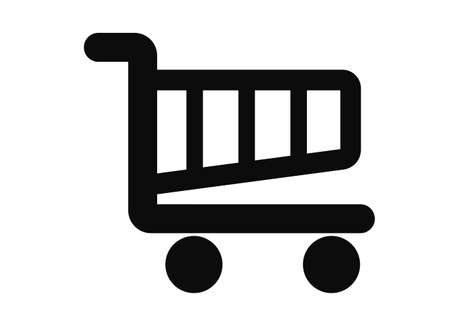 wheeled cart on a white background