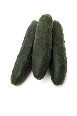 pepino: green cucumber on a white background
