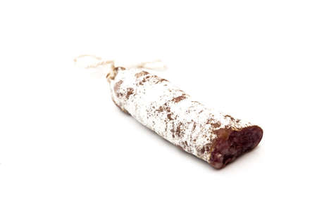llonganissa: pork sausage on a white background