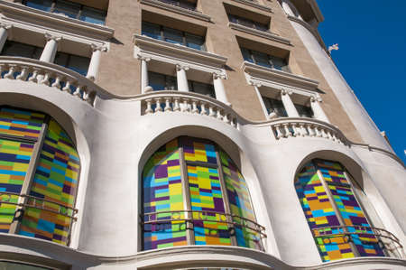 colorful building of Barcelona