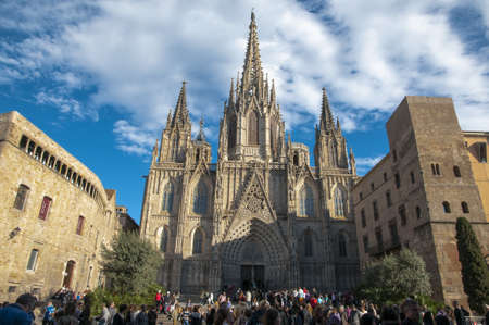 La Catedral del Mar in Barcelona the day 29-03-2013 Stock Photo
