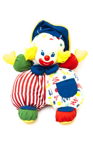 clown colors on a white background photo