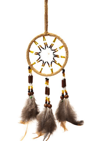dreamcatcher on a white background Imagens
