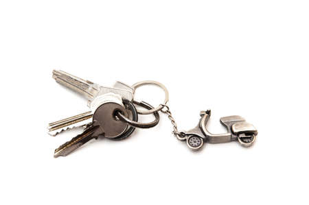 keys with key on a white background photo