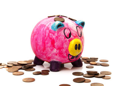 piggy bank on a white background photo