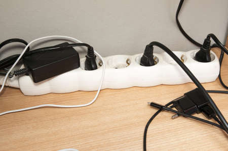 plugged into the wall sockets