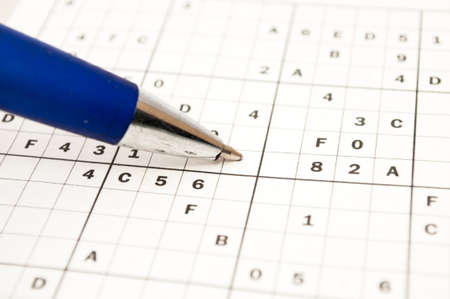 doing a sudoku to train the mind Stock Photo - 21175091