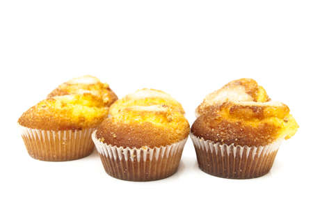 madalena: normal cupcakes on a white background Stock Photo