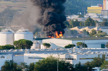manufactures burning in Montornes Del Valles