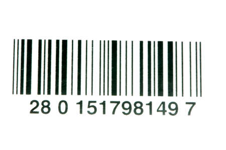 barcode on a white background photo