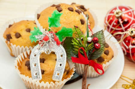 madalena: Christmas chocolate muffins with chocolate chips