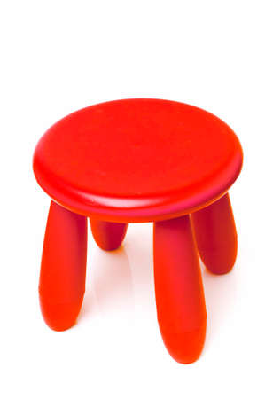 pink stool on a white background Stock Photo