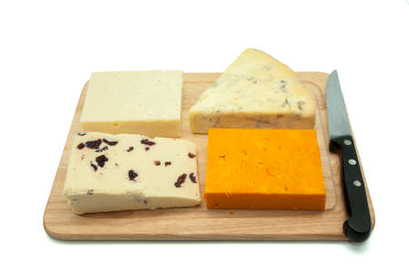cheese board on a white background photo