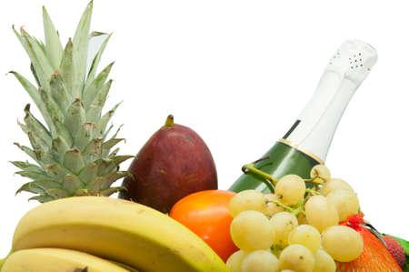 tropical fruit set photo